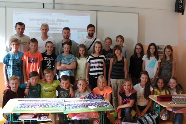 Mešanović, Kryštůfek a Hanuš žáky přivítali ve školním roce