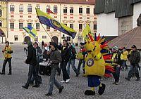 Vydařený průvod fanoušků FC Vysočina