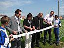 Zrekonstruované travnaté hřiště bylo slavnostně otevřeno