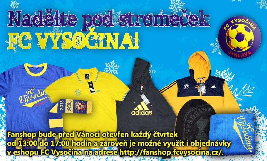 Nadělte svým blízkým pod stromeček FC Vysočina